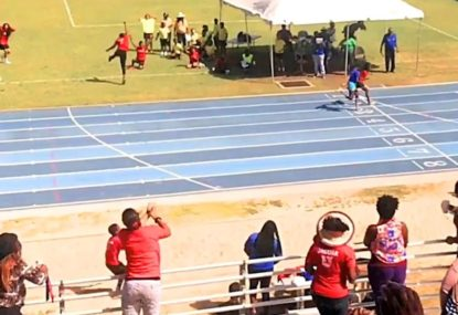 Epic come from behind victory in 4x100m relay