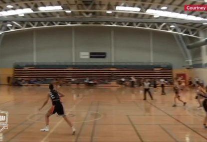Epic full court buzzer beater