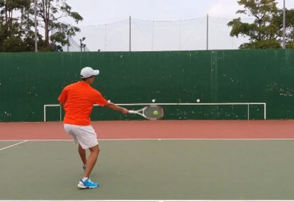 This tennis drill is perfect to improve your forehand!