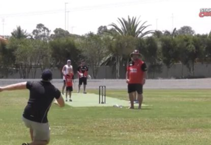 Blooper dropped catch leaves little bowler gutted