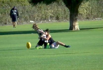 Textbook ball and all tackle wins well-earned free