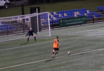 Striker somehow fluffs shot 1-on-1 with the goalkeeper