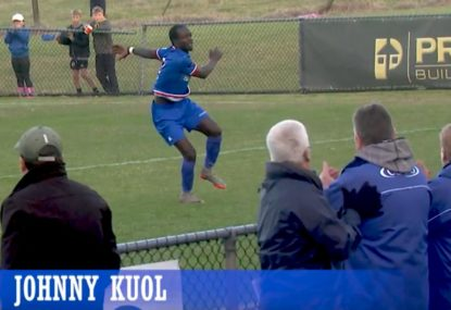 Clinical spot kick topped off with unbelievable back flip celebration