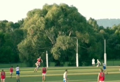 Full forward takes to the skies to reel in massive hanger