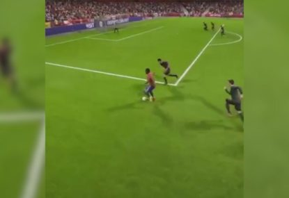 Destroying your FIFA opponent with a cheeky nutmeg