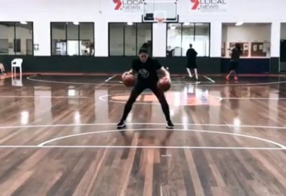 Double-ball dribble-shoot drill is just pure skill