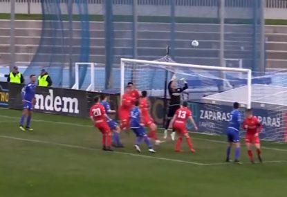 Amazingly rare goal from CORNER KICK stuns everyone