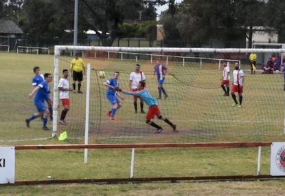Perfectly placed cross finds man completely unmarked in front of goal