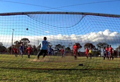 Long range free kick leaves keeper clutching at thin air