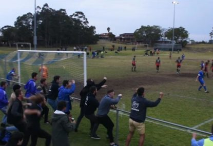 Crowd goes crazy after game-winning 92nd-minute free kick