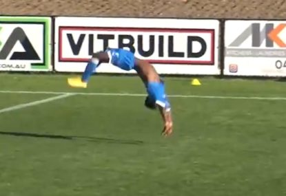 EPIC back-flip bonanza absolutely eclipses local footballers goal!