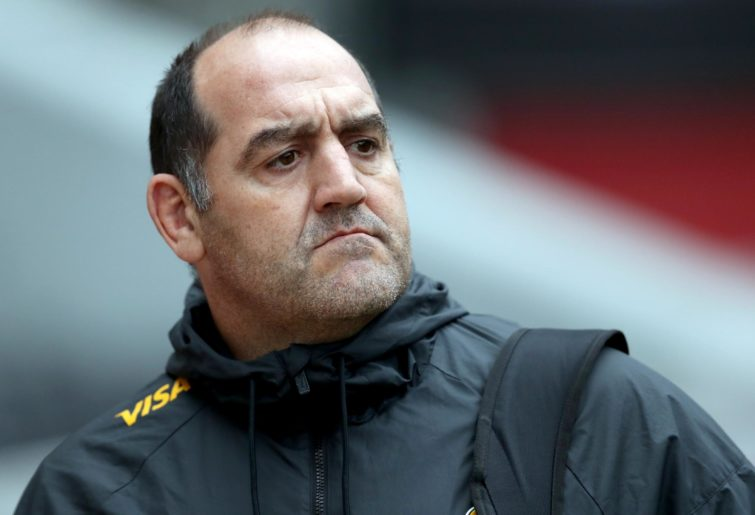 Jaguares head coach Mario Ledesma during the Super Rugby match in 2018.