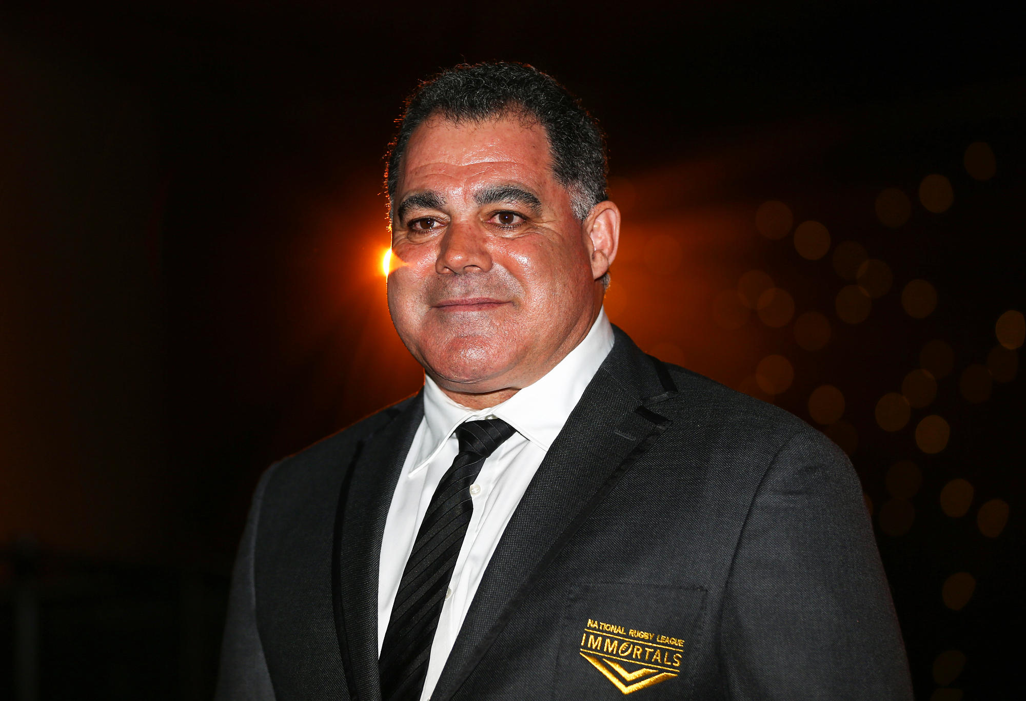 Mal Meninga poses after being inducted as the 13th immortal