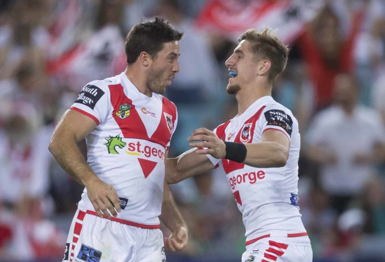 Ben Hunt and Zac Lomax for the Dragons