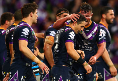 Billy Slater can mount a serious challenge to a shoulder charge