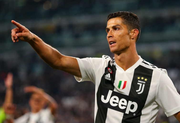 Cristiano Ronaldo of Juventus during the Serie A match between Juventus and Bologna FC at Allianz Stadium.