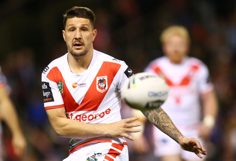 Gareth Widdop playing for the Dragons.