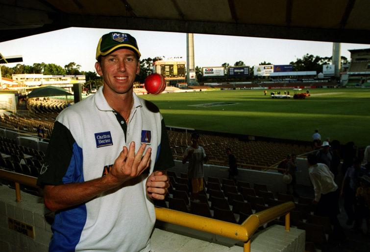 Glenn McGrath of Australia celebrates