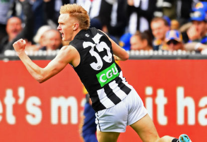 Collingwood's Jaidyn Stephenson speaks after his 10-match ban
