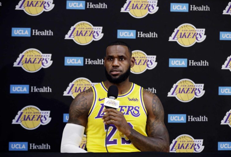 LeBron James Lakers press conference