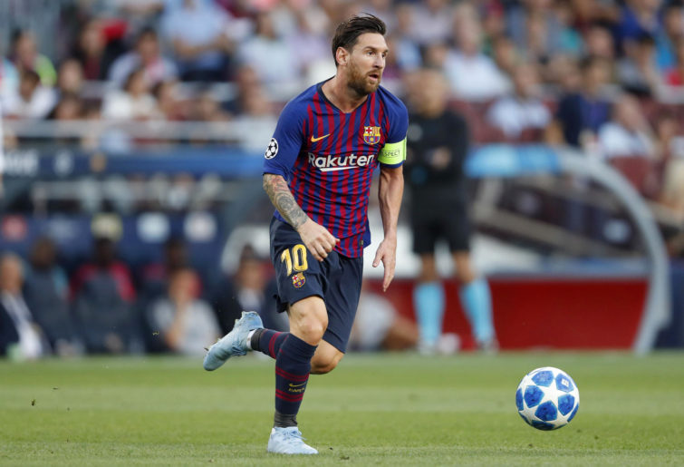 Lionel Messi of FC Barcelona during the UEFA Champions League group B match between FC Barcelona and PSV Eindhoven.