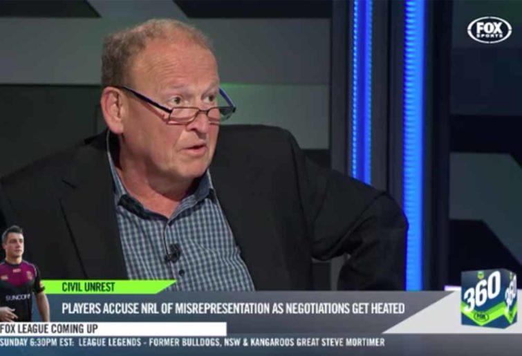Phil 'Buzz' Rothfield on NRL 360 (Image Fox)