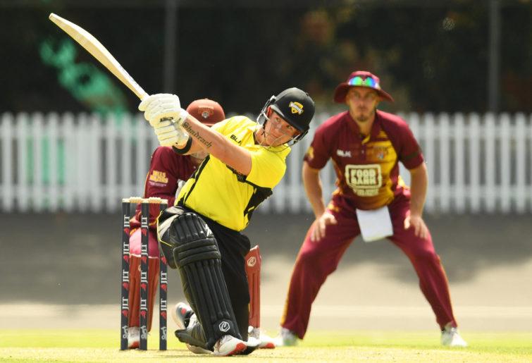 D'Arcy Short of Western Australia hits a six