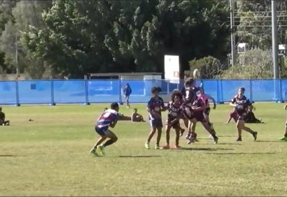 Player turns floating pass into a length of the field try
