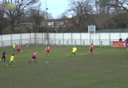 Keeper makes great double save to deny big chance on goal