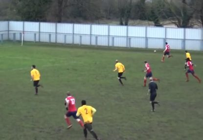 Pinpoint cross and clinical volley finds back of the net