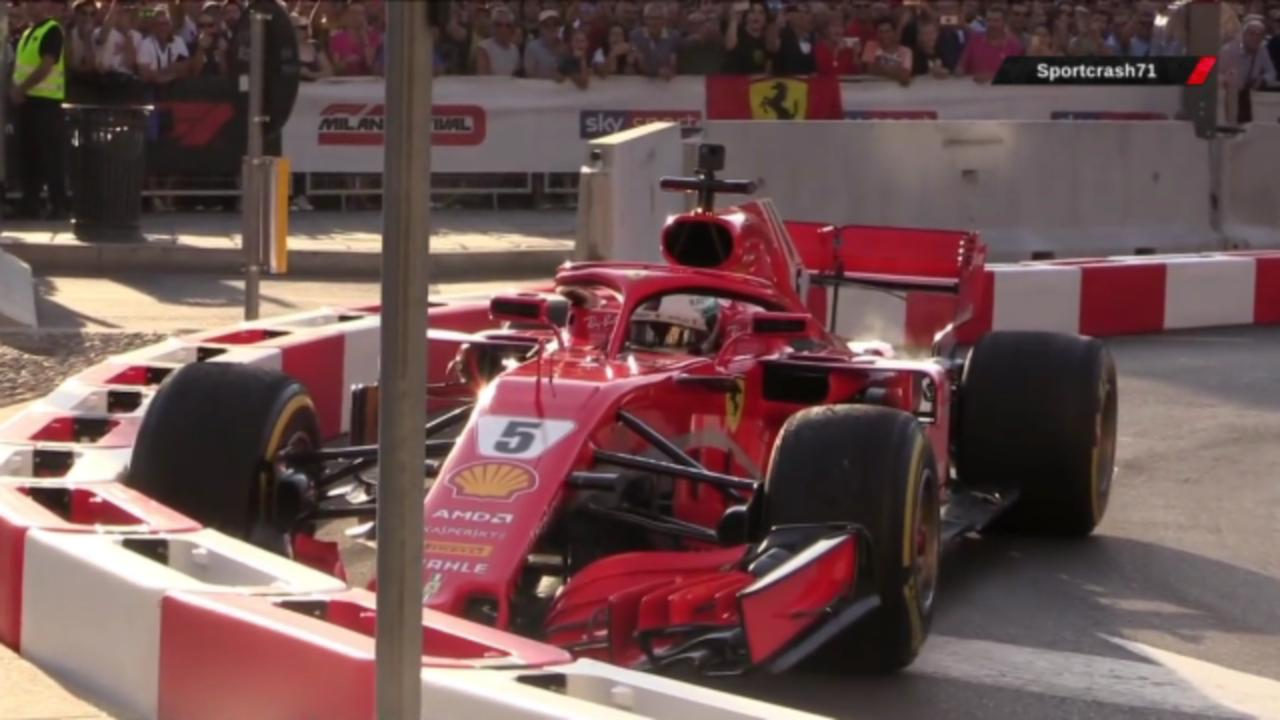 Sebastian Vettel suffers the slowest and most embarrassing crash of his career