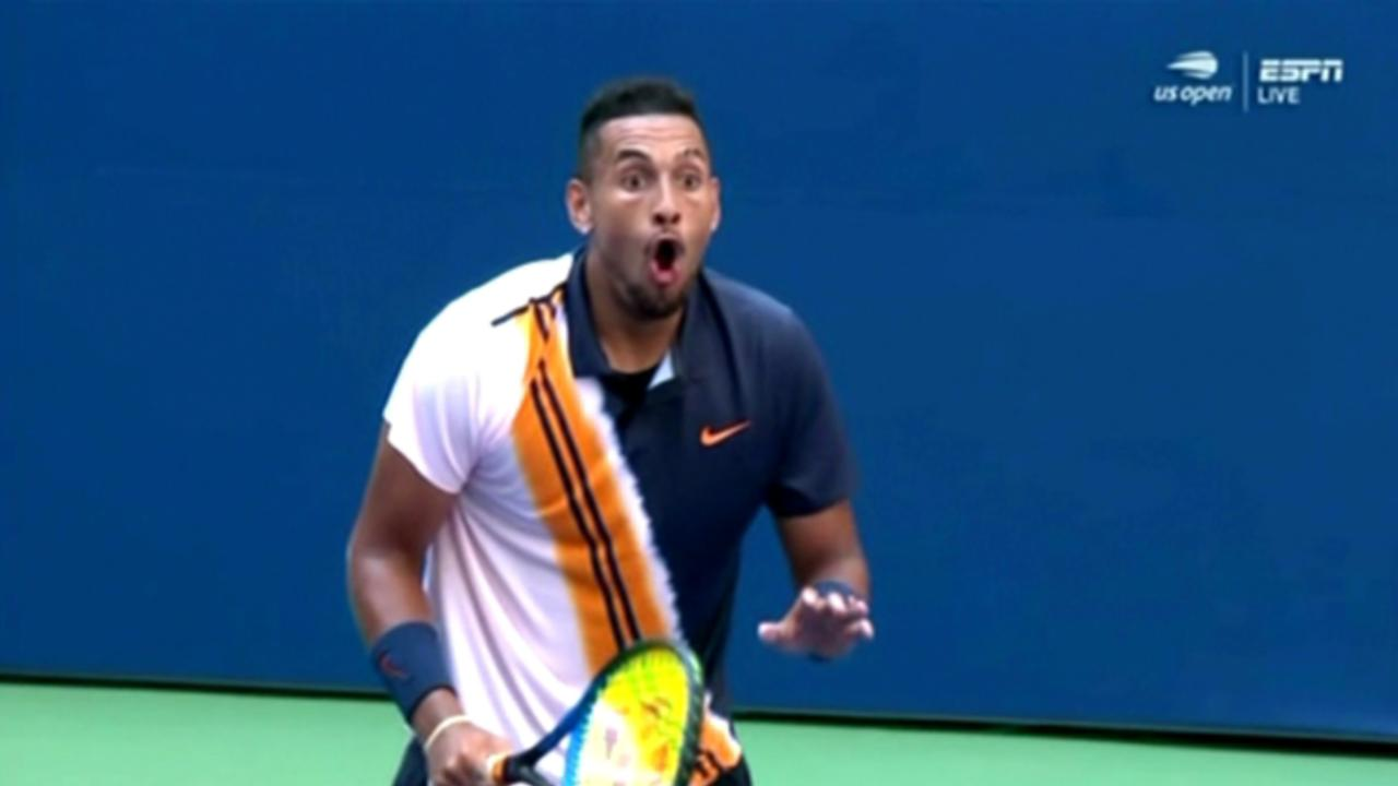 Kyrgios is definitely followed, while Federer enforces the impossible