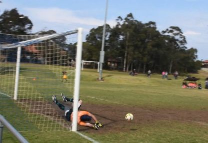Striker makes the most of keepers sloppy save