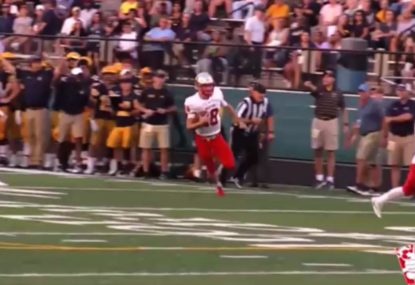 Quarterback does it all himself for epic solo TD