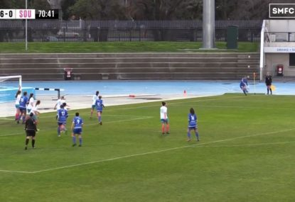 Corner kick amazingly goes straight in off the boot!