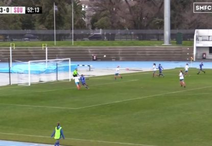 Striker comes from nowhere to sink the easiest of headers