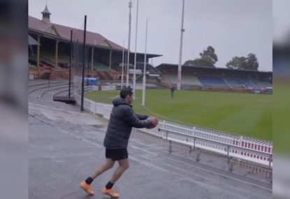 Eddie Betts 'almost struck by lightning' while nailing impossible kick
