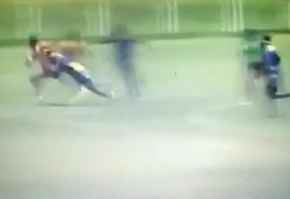 Fijian beast savagely blindsides opponent in brutal fashion