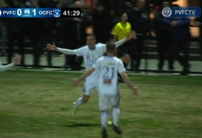 Absolutely perfect long ball sets up exhilarating goal