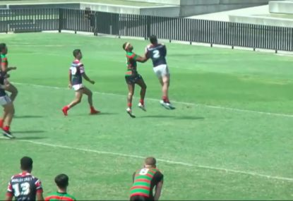 Sensational high ball contest sees chaser reel it in for try
