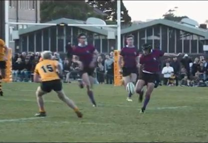 Explosive schoolboy winger is a try-saving and scoring machine!
