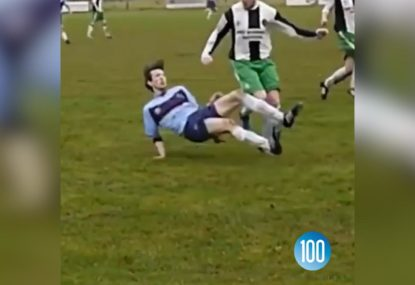 Footballer sent FLYING from the most unexpected blunder for the ages!