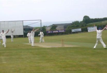 Direct hit run out stuns batsman taking casual single