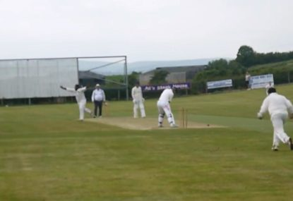 Bowler on hot streak takes out middle and off for 3rd wicket of the day