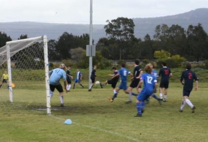 Wicked free kick helped in by the touch of two unlucky defenders