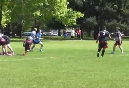 Scrumhalf sells 3 defenders with ripper dummy to complete lengthy try