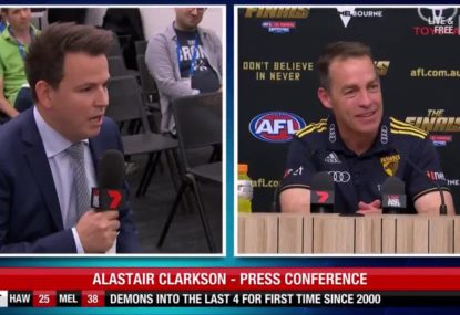 Clarko grills journo over question ten seconds into presser