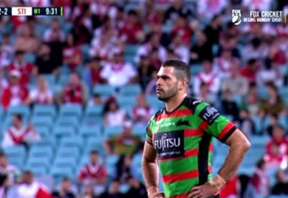Is Greg Inglis in strife for this crusher tackle on Tim Lafai?