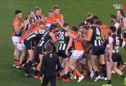 On for young and old as Pies and Giants come to blows