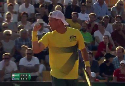 Lleyton Hewitt thrills in magical Davis Cup return